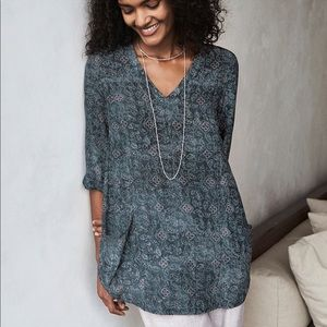 Poetry Silk Tunic Top